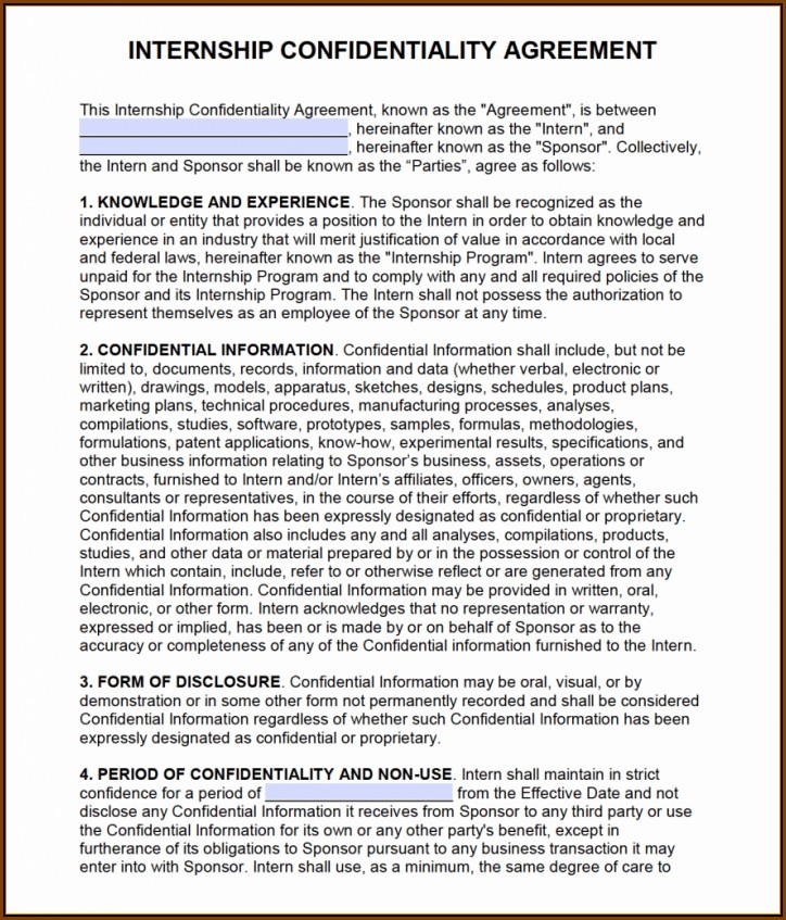 Confidentiality Agreement Template Free Download