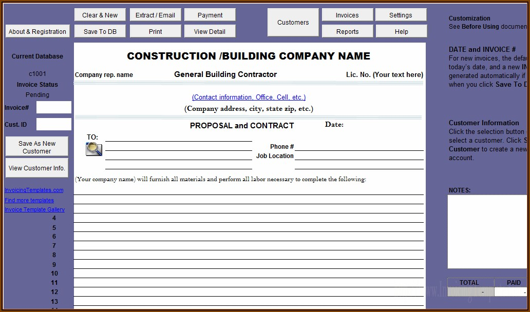 Construction Job Proposal Template Free