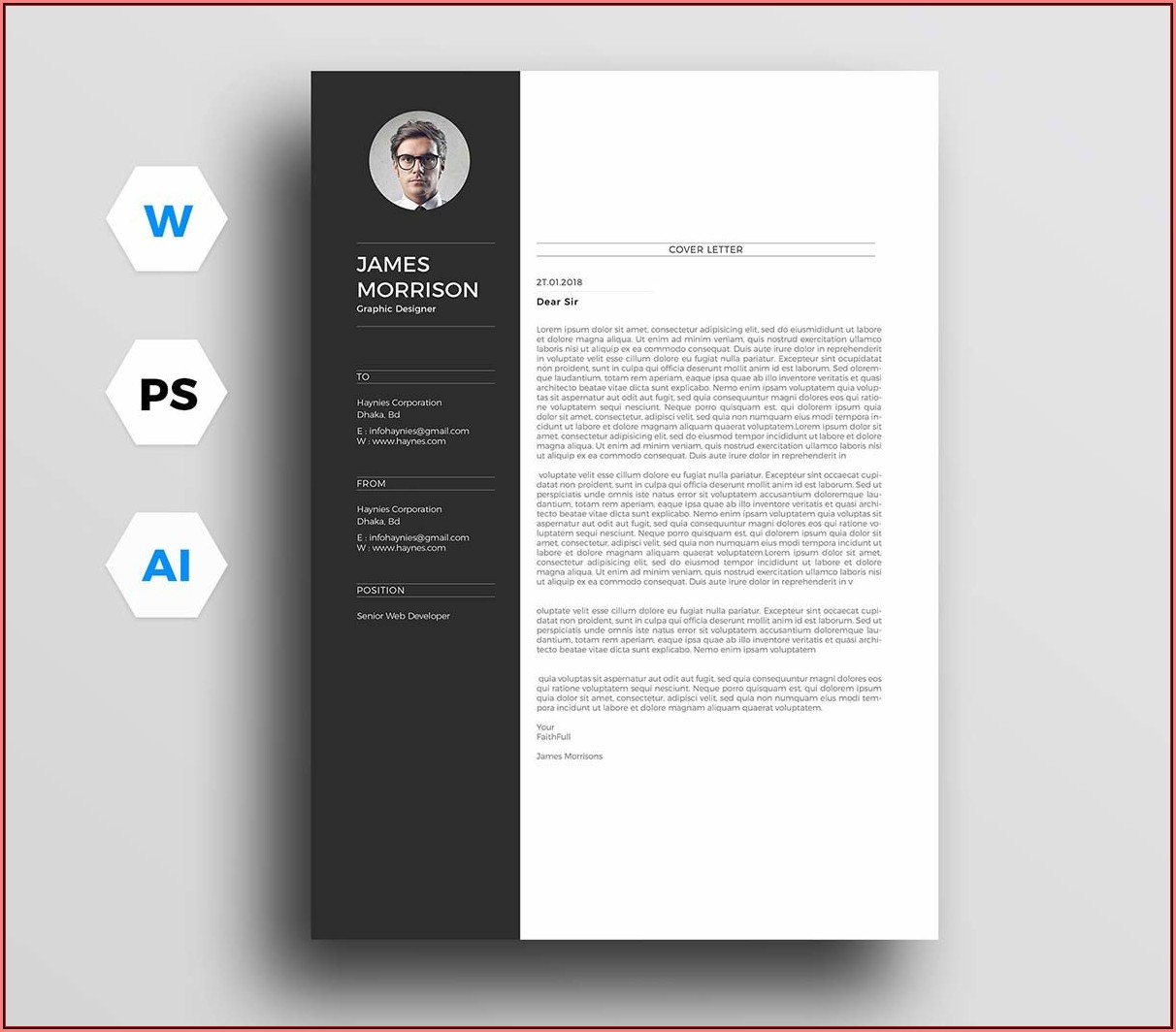 Cover Letter And Cv Template Free