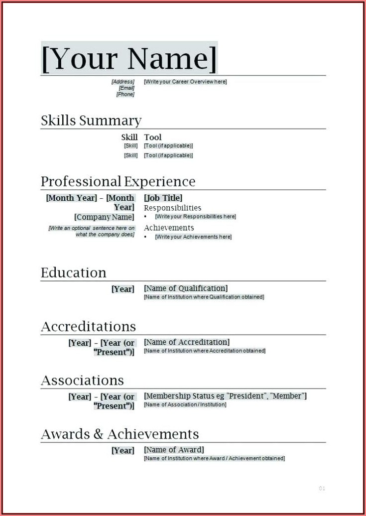 Creative Resume Maker Online Free Download