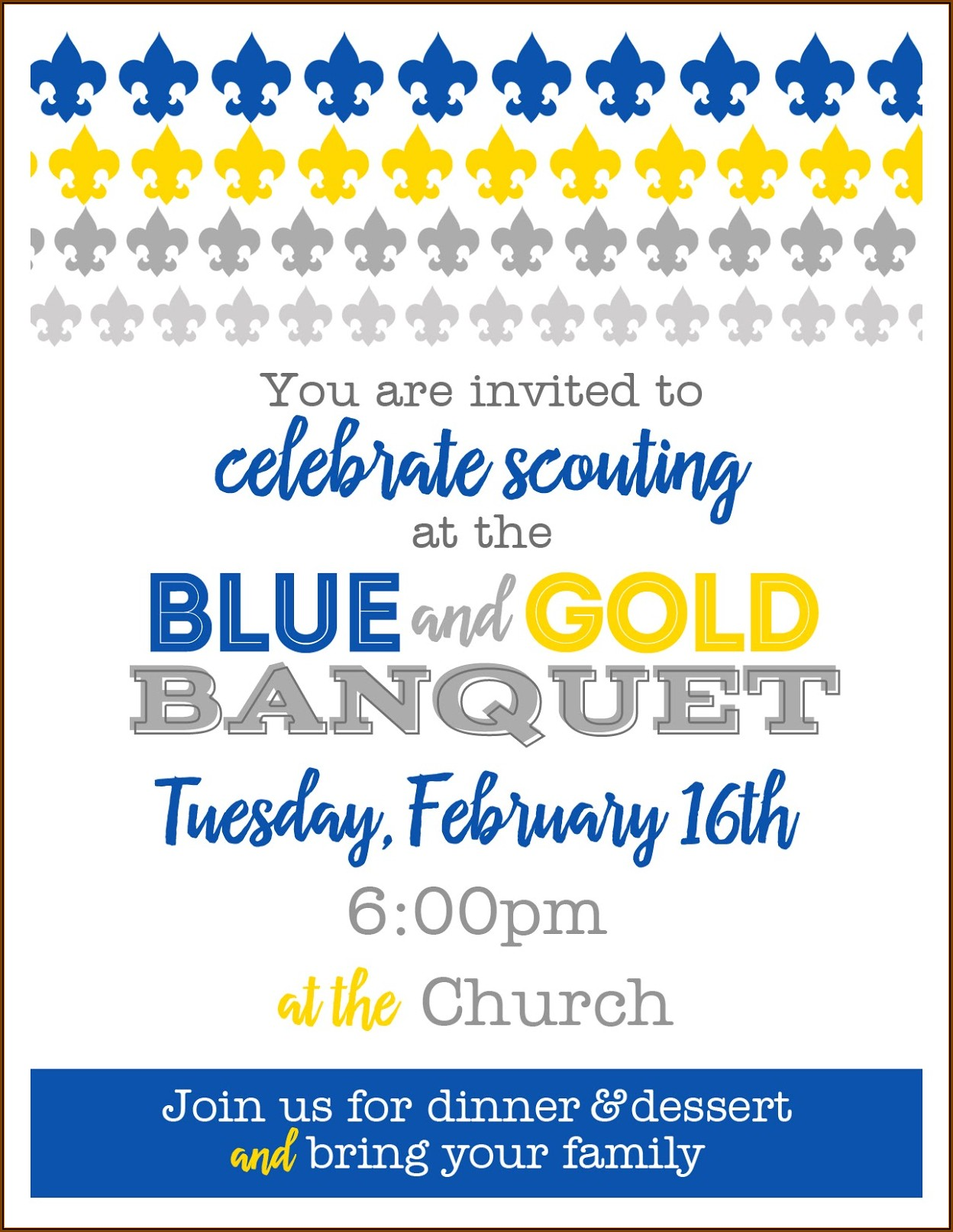Cub Scout Blue And Gold Banquet Program Template