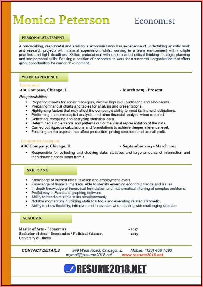 Current Resume Templates 2018