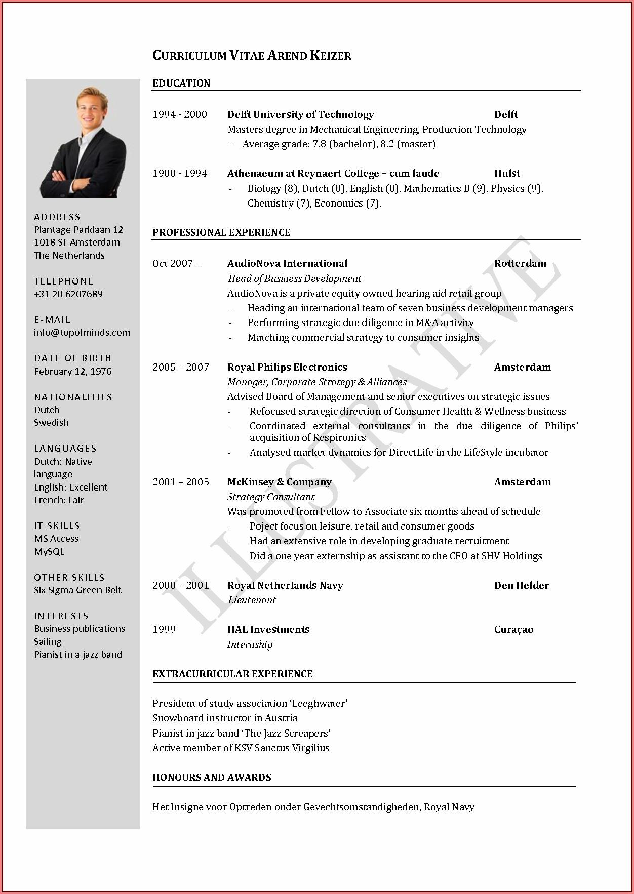 Curriculum Vitae (cv) Templates