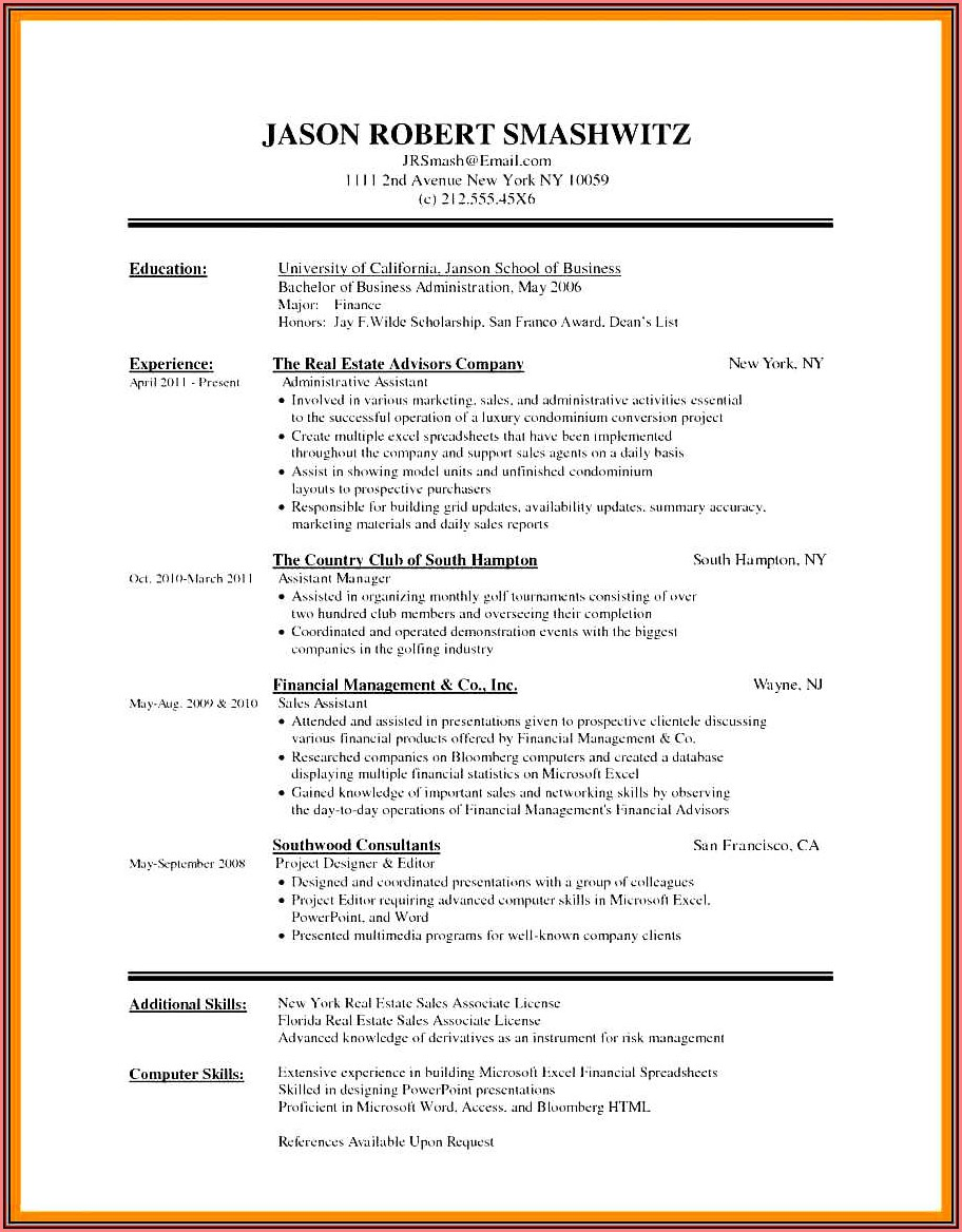 Cute Resume Templates Free Download