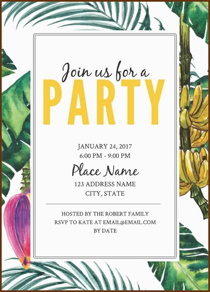 Dinner Party Invitation Cards Online Free
