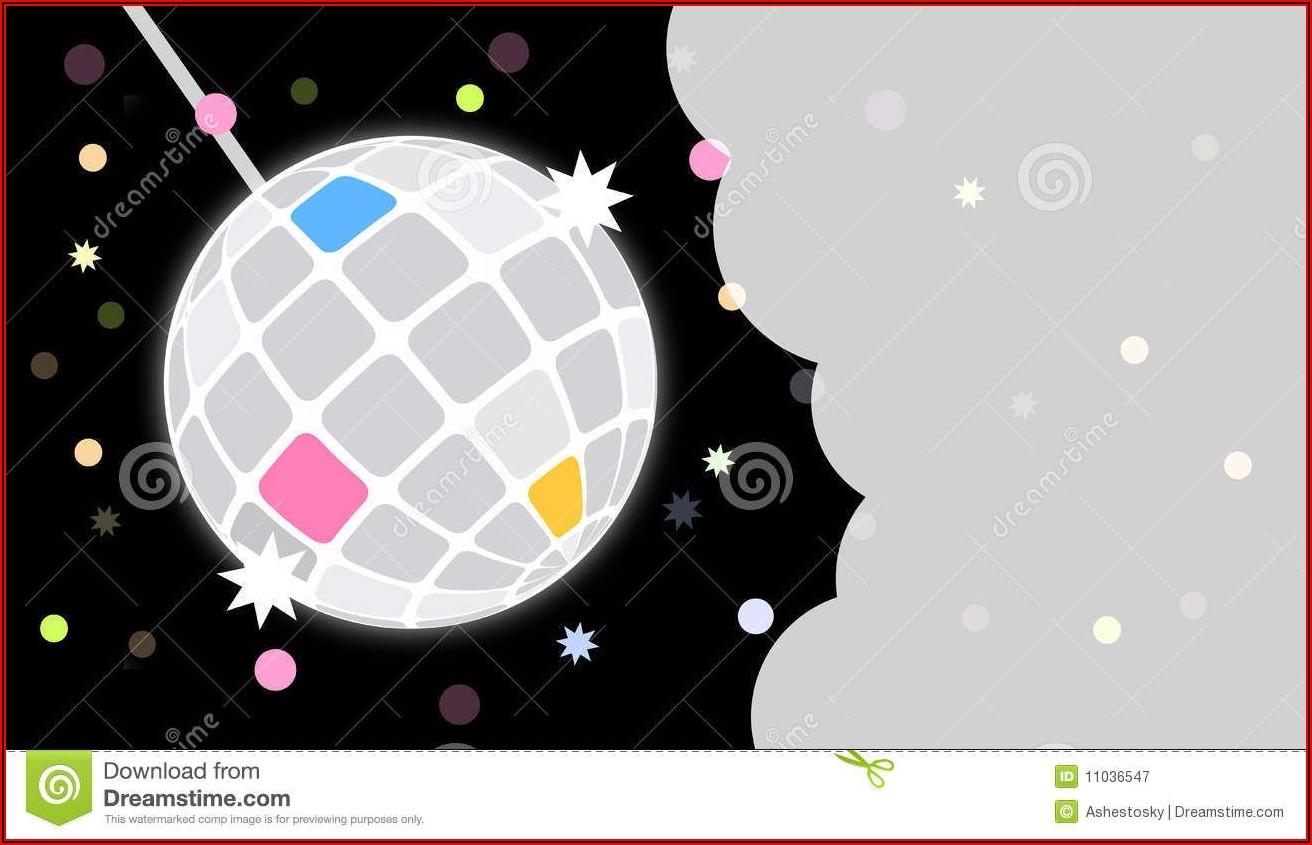 Disco Birthday Invitation Templates Free