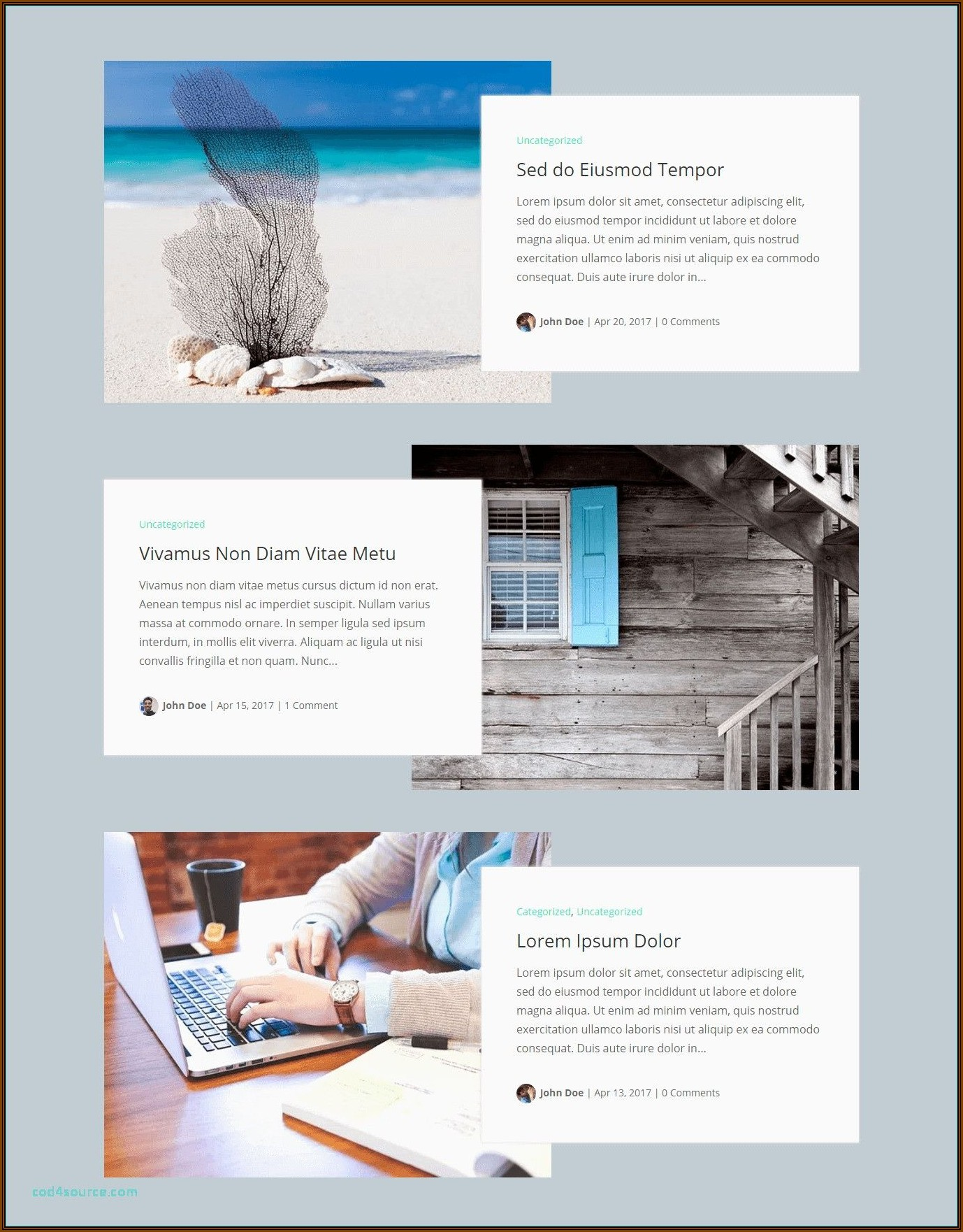 Divi Theme Template Demo