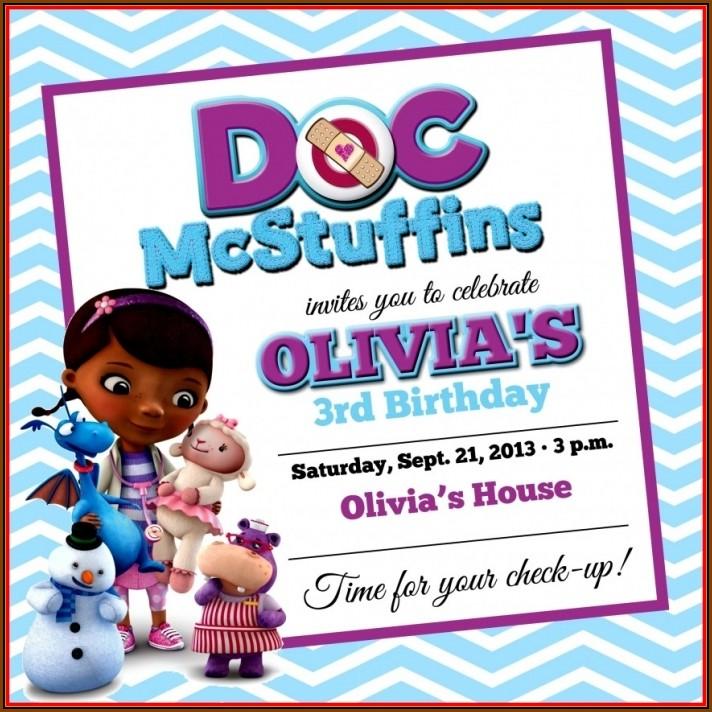 Doc Mcstuffin Invitation Template Free