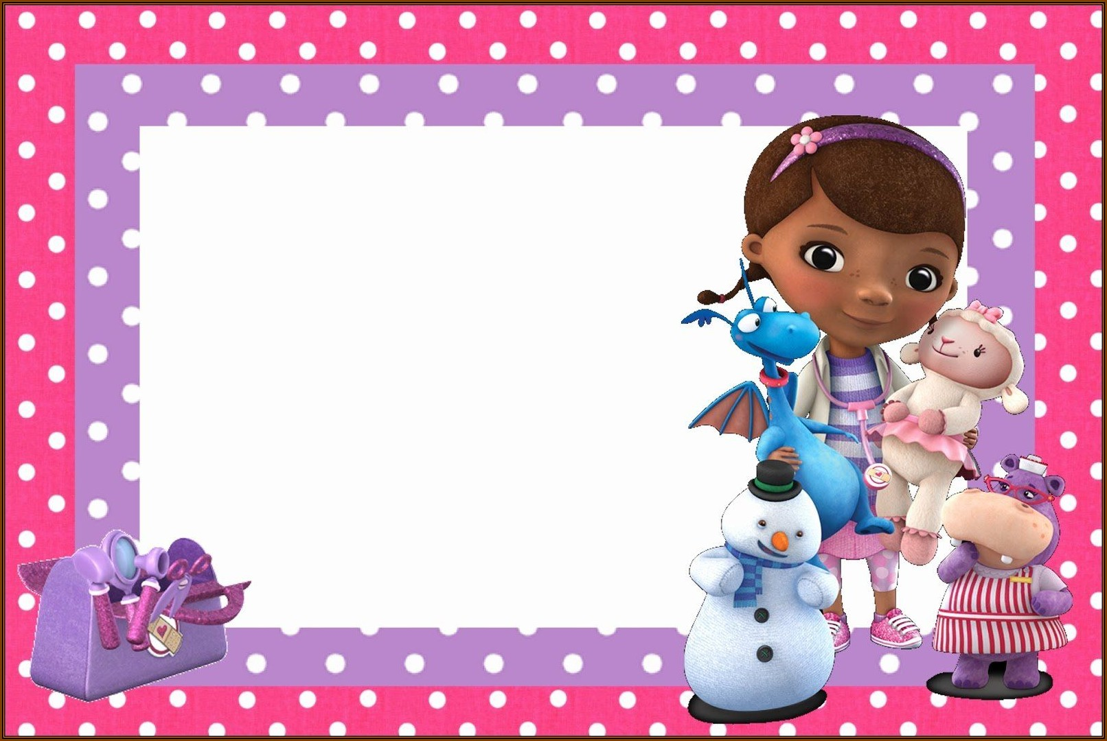 Doc Mcstuffins Birthday Invitation Template