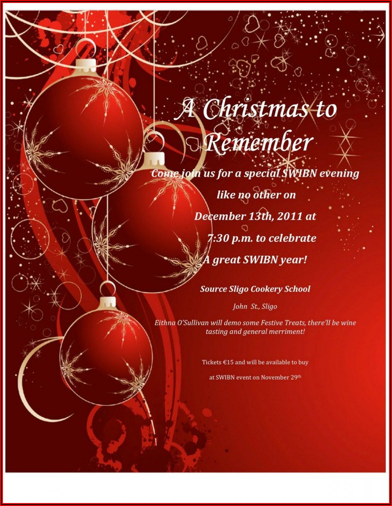 Download Christmas Invitation Templates Word