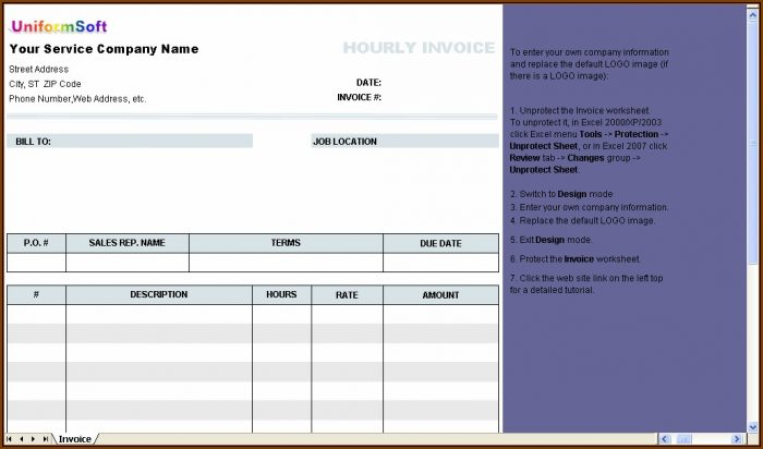 Download Form Invoice Excel