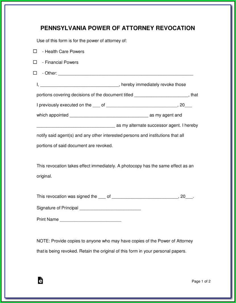Durable Power Of Attorney For Healthcare Form