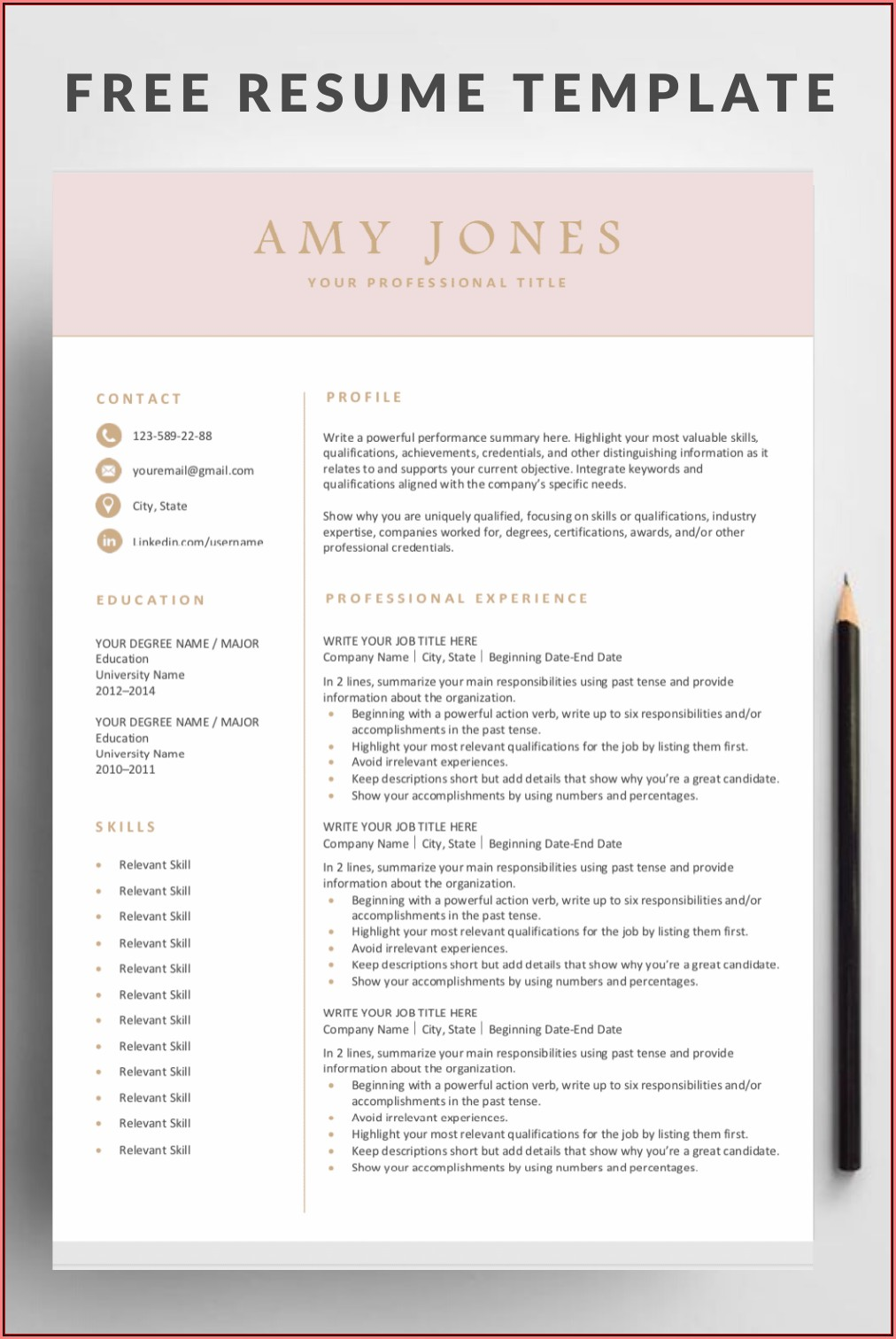 Editable Resume Free Download