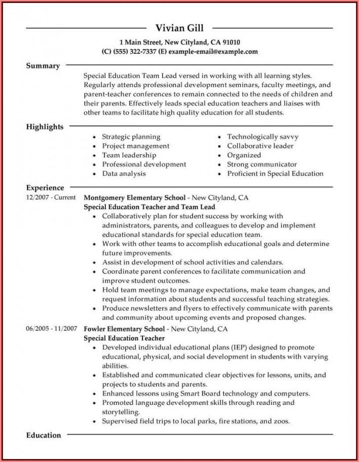 Education Resume Builder