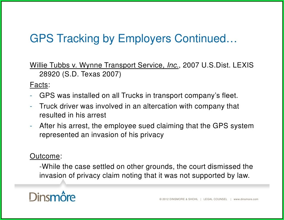 Employee Gps Tracking Consent Form