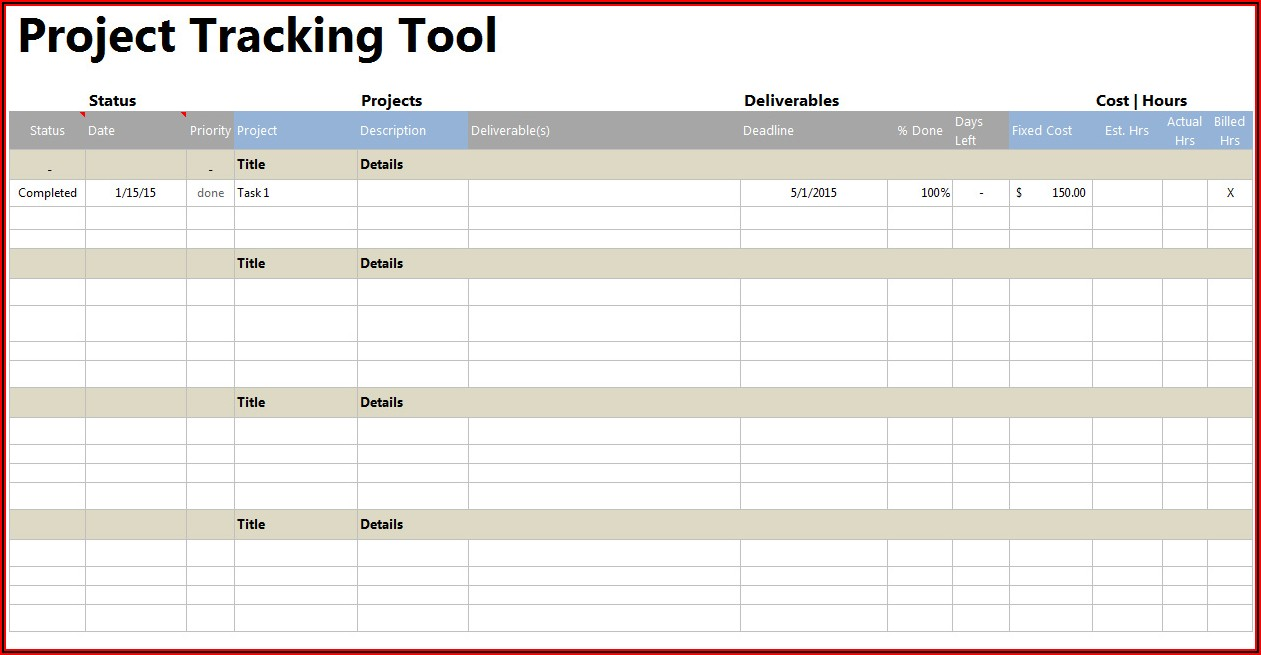 Employee Task Tracking Template Excel