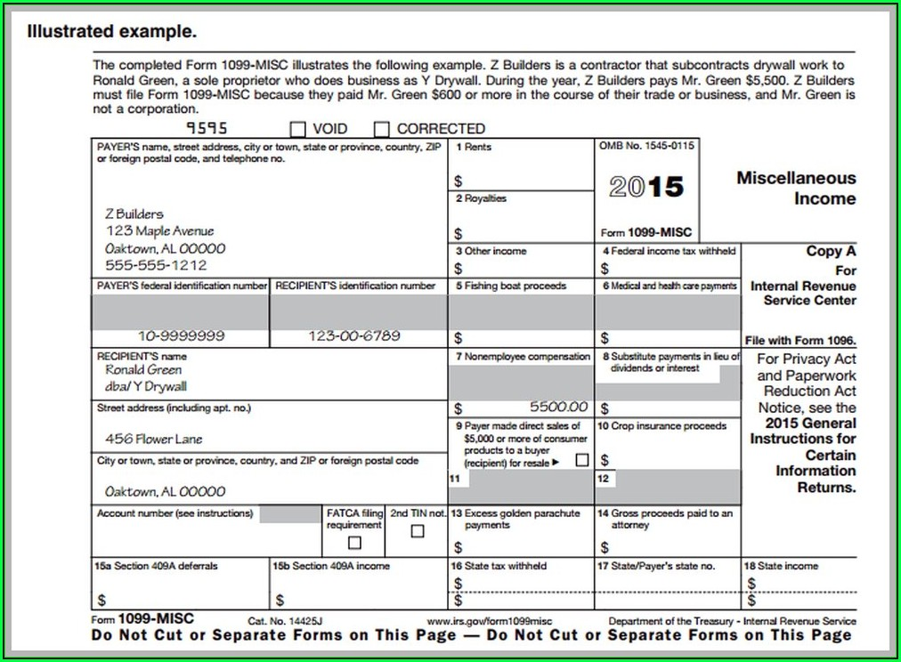 Employer Or Employee 1099 Form