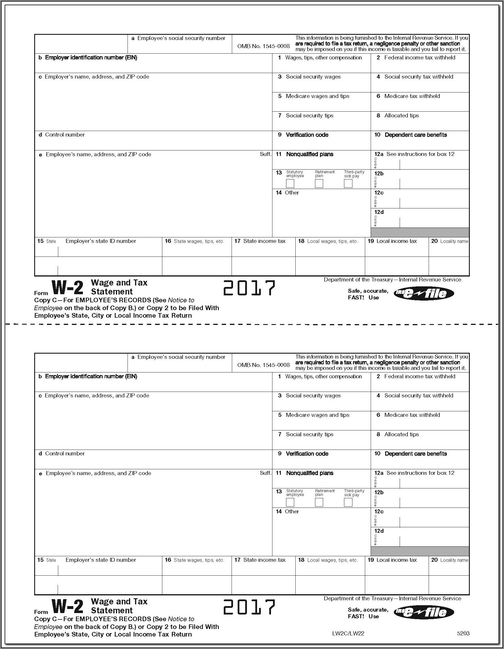 Employer W2 Form Download