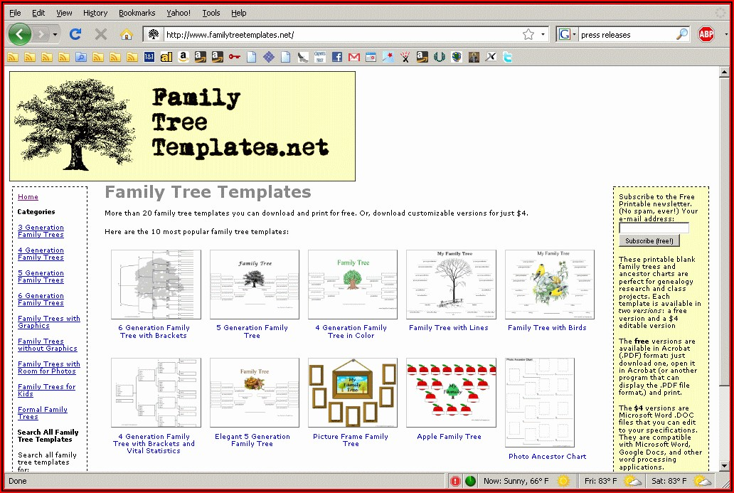 Family Tree Website Templates Free Download