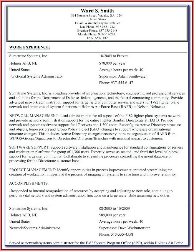 Federal Resume Service Reviews