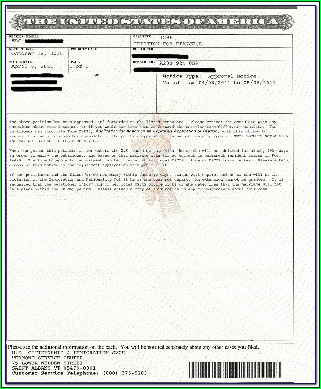 Fiance Visa Form In Spanish