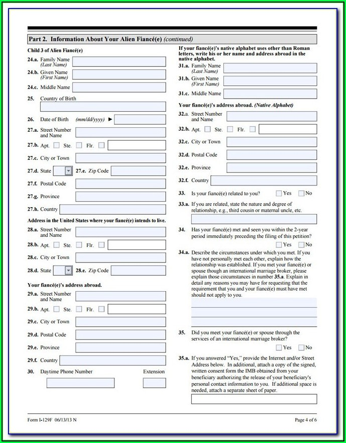 Fiance Visa Form Uk