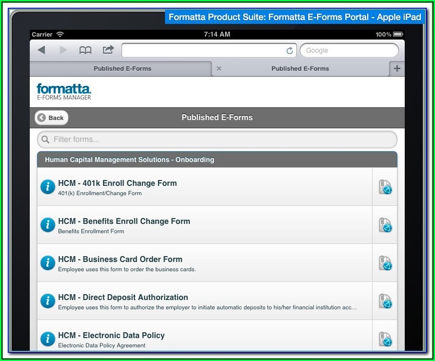 Fillable Forms For Ipad Free