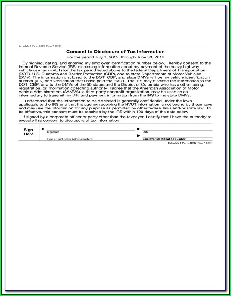 Form 2290 Due Date 2016