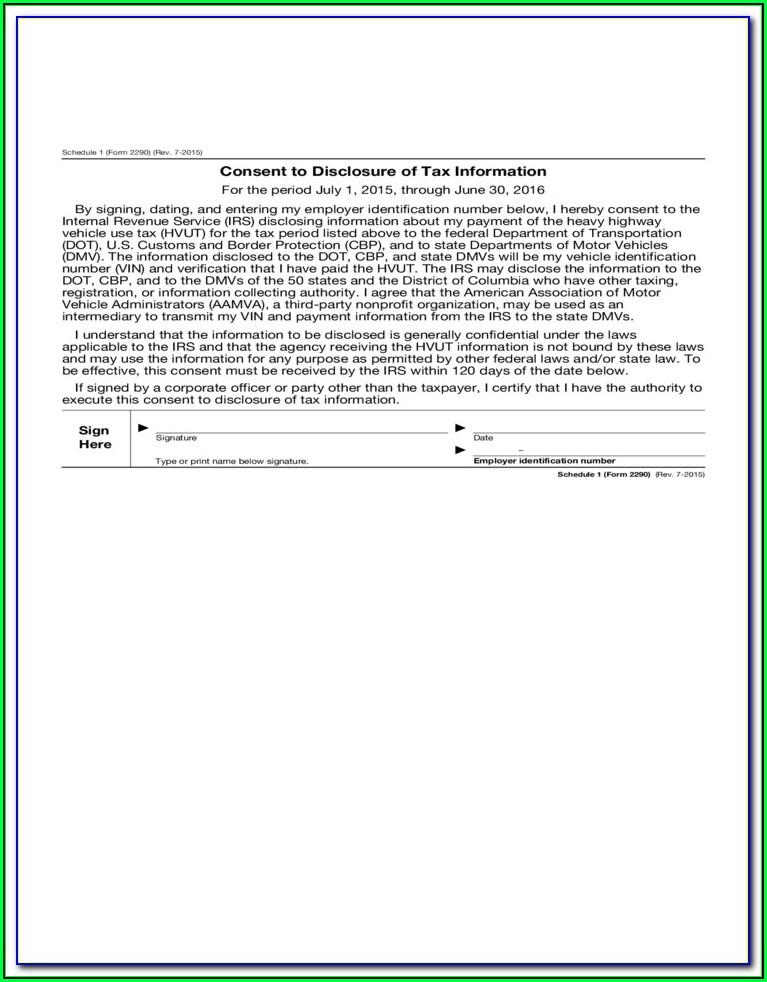 Form 2290 Instructions 2016