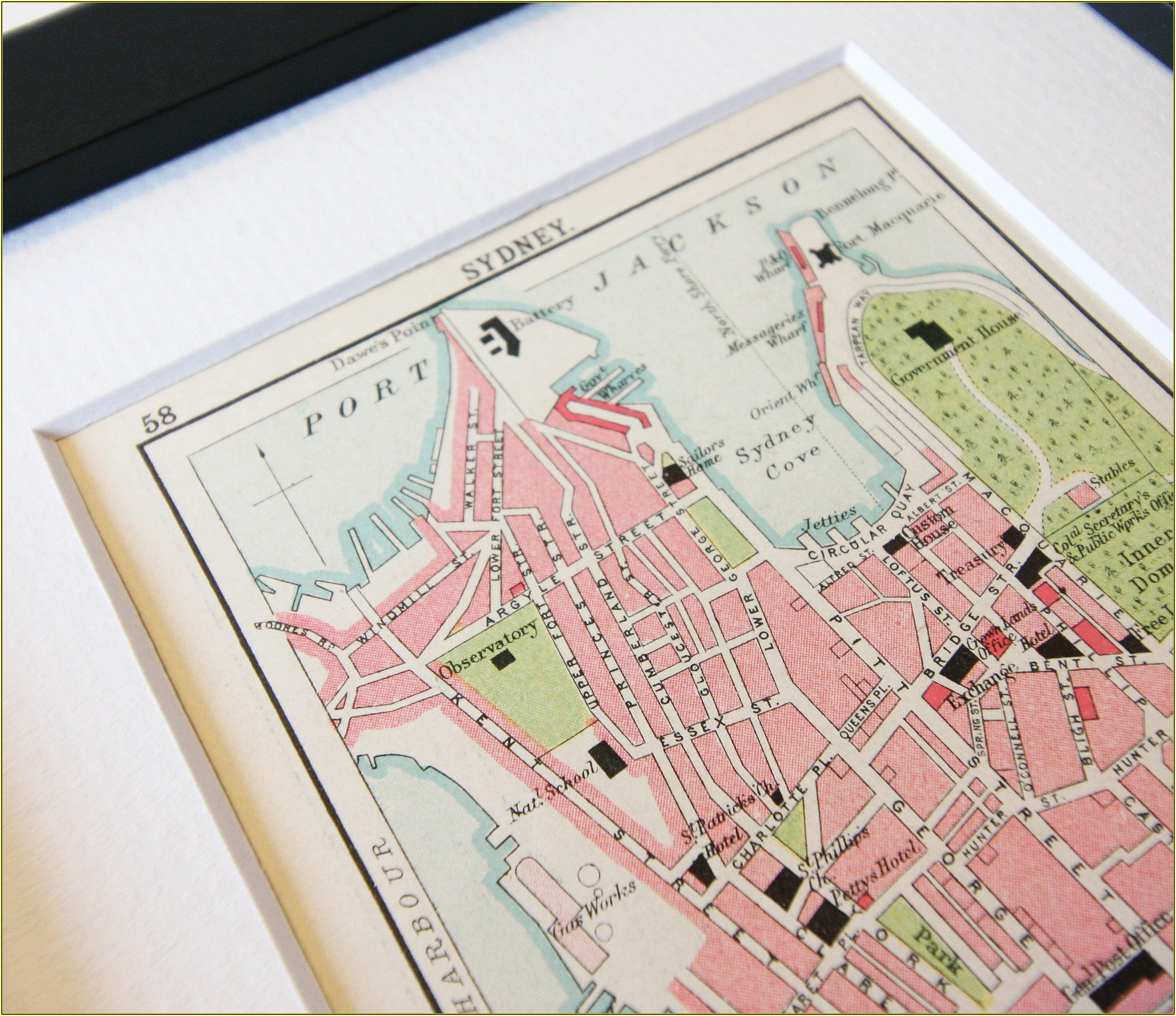 Framed Vintage City Maps