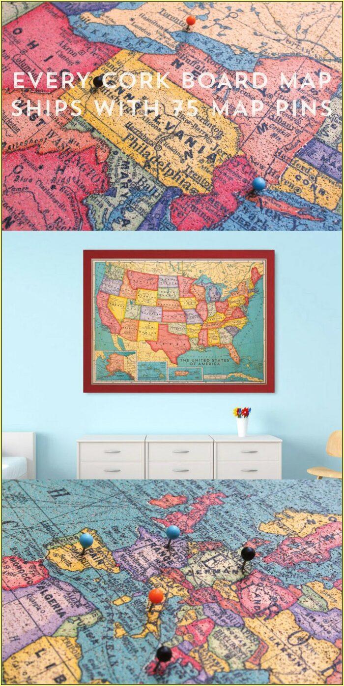 Framed Vintage Us Maps