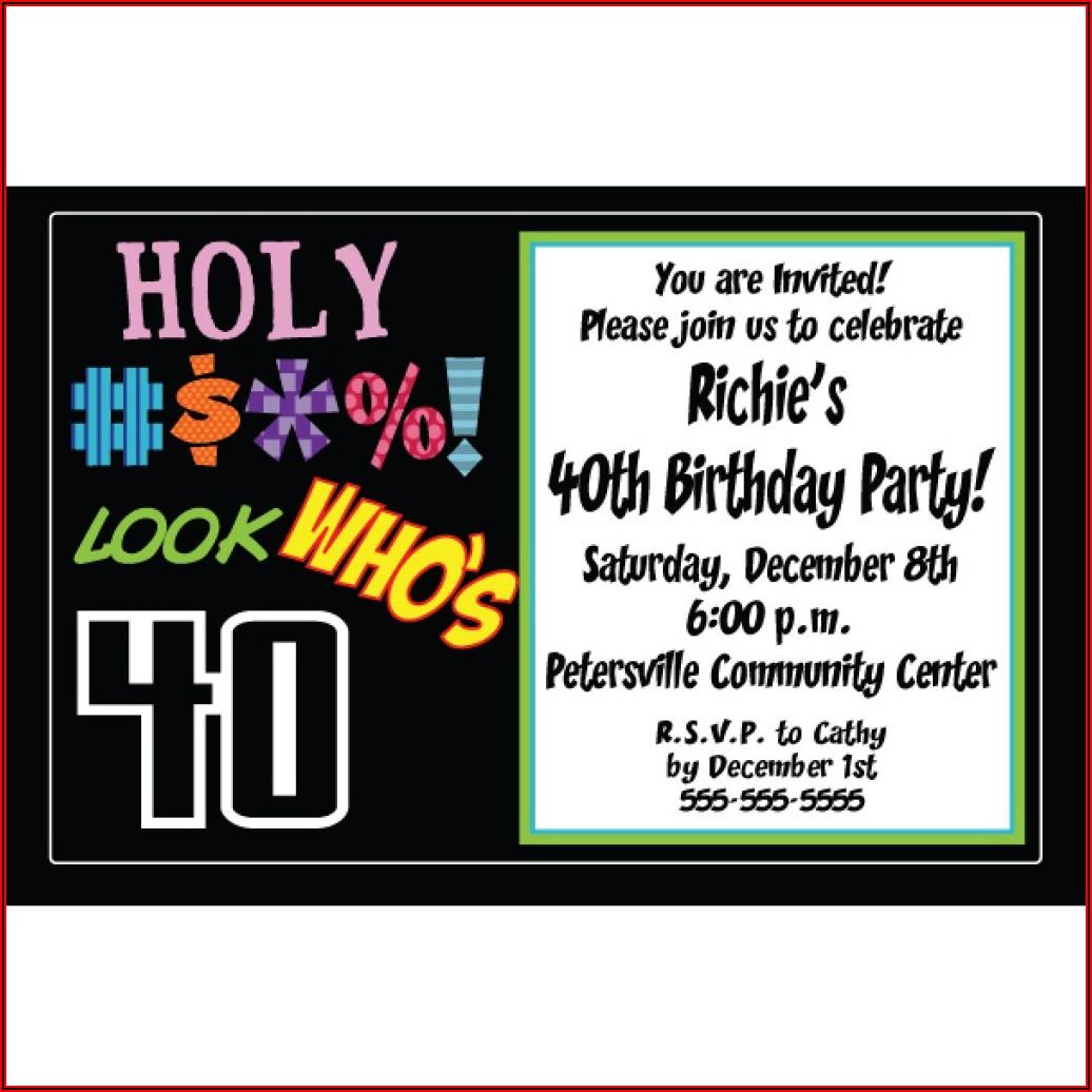 Free 40th Birthday Party Invitation Templates