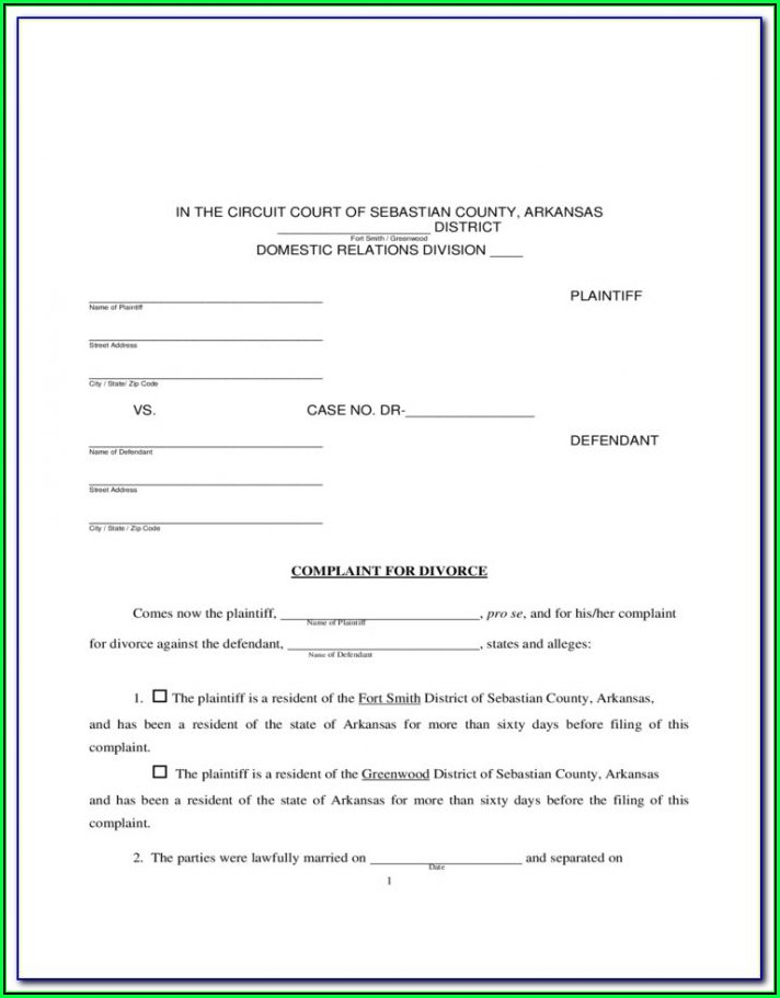 Free Alabama Divorce Forms Download
