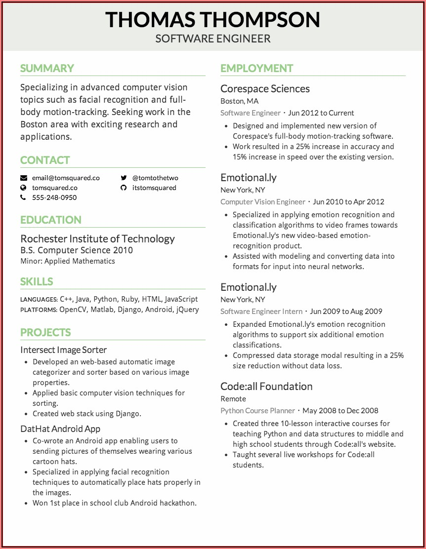 Free Automatic Resume Maker