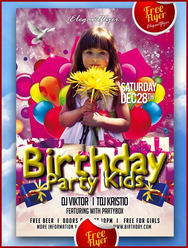Free Birthday Party Flyers Templates