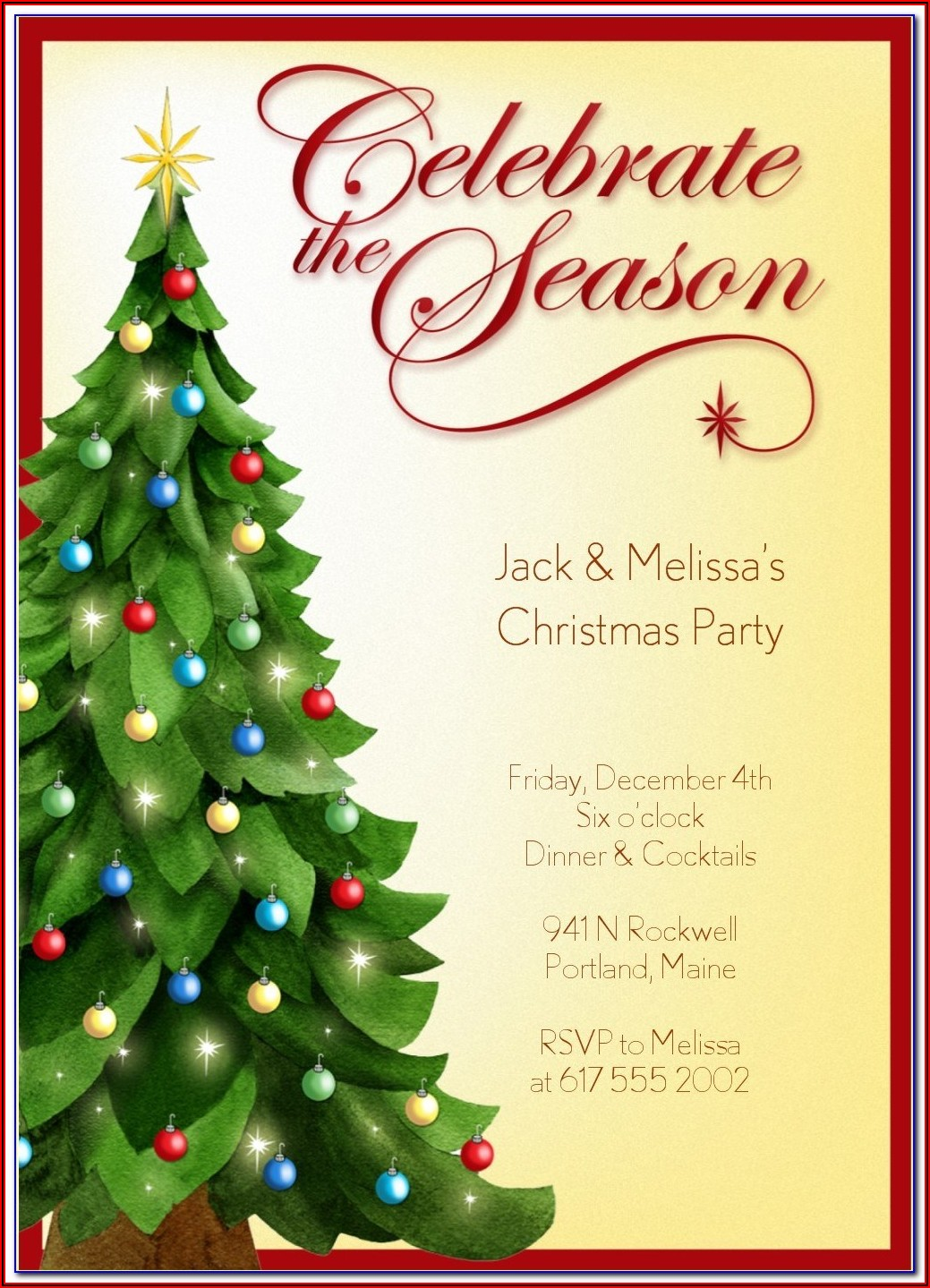 Free Business Holiday Party Invitation Templates