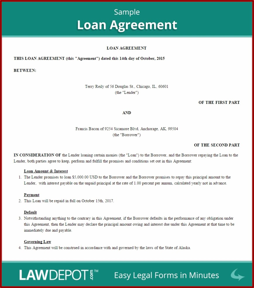 Free Business Loan Agreement Template Uk