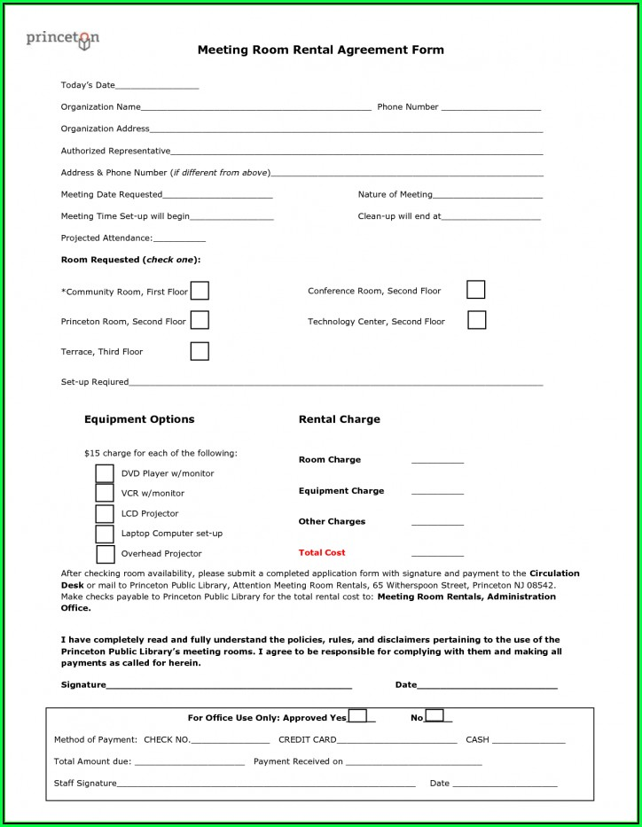 Free California Rental Agreement Form Pdf