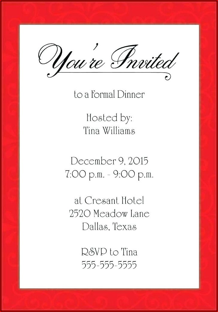 Free Christmas Party Invitation Templates For Word