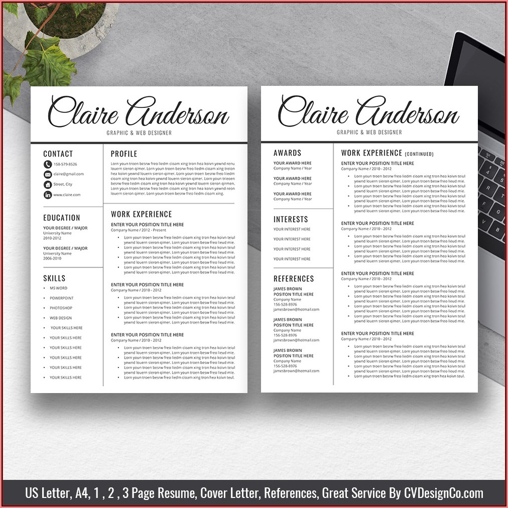 Free Chronological Resume Template 2019