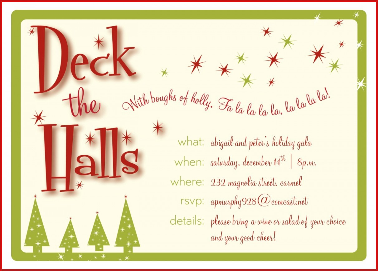 Free Corporate Christmas Party Invitation Templates