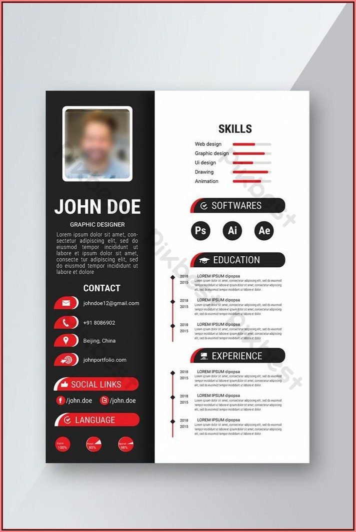 Free Creative Resume Template Word