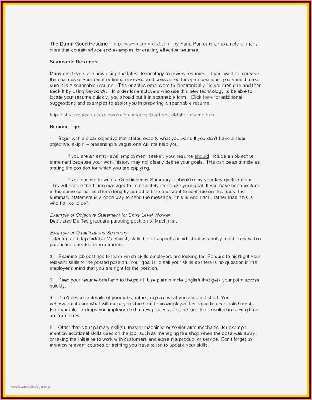 Free Download Sample Resume For Lecturer