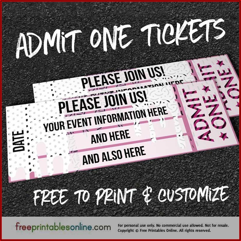 Free Editable Dance Ticket Template