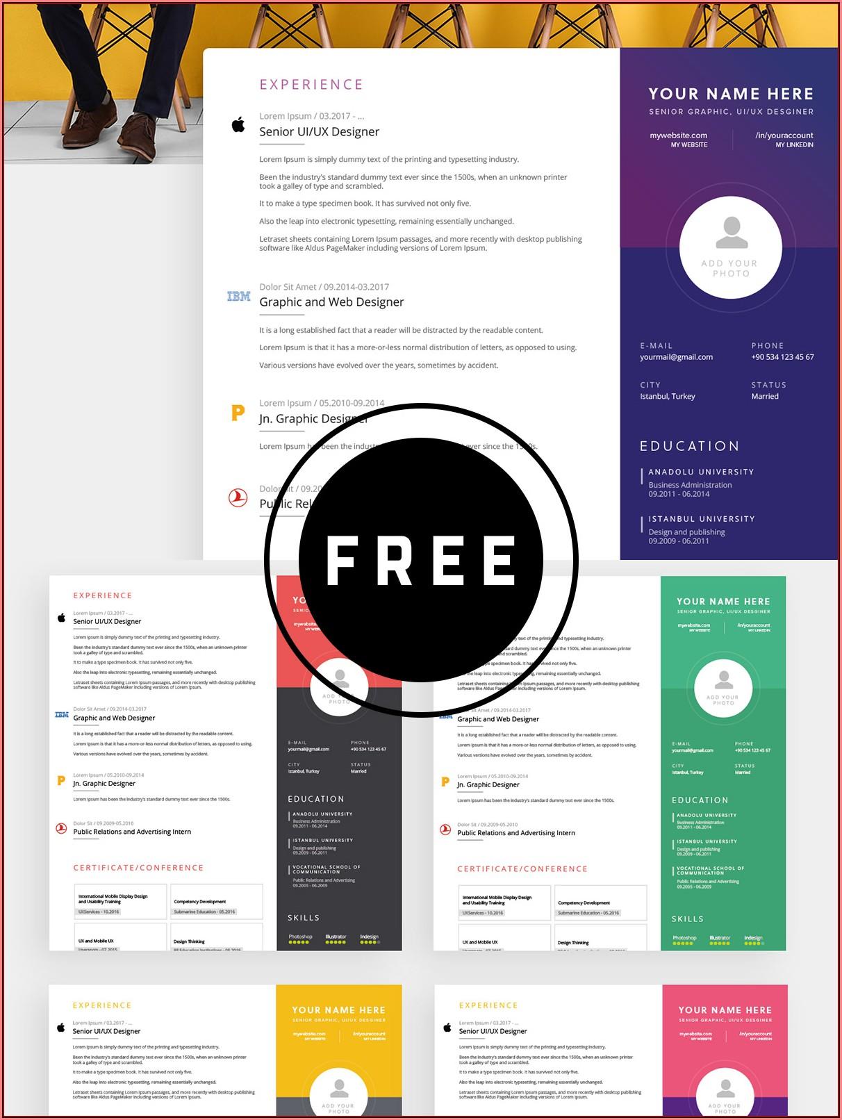 Free Editable Resume Templates 2019