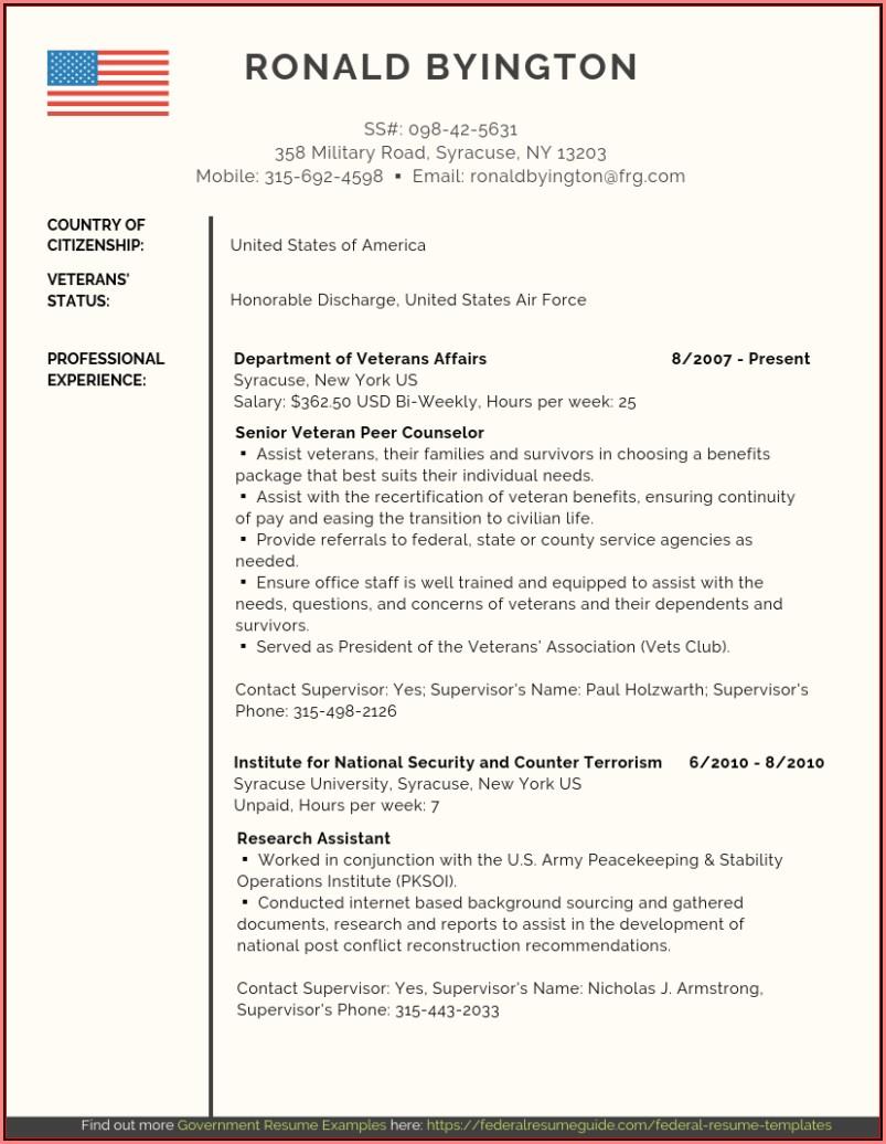 Free Federal Resume Help