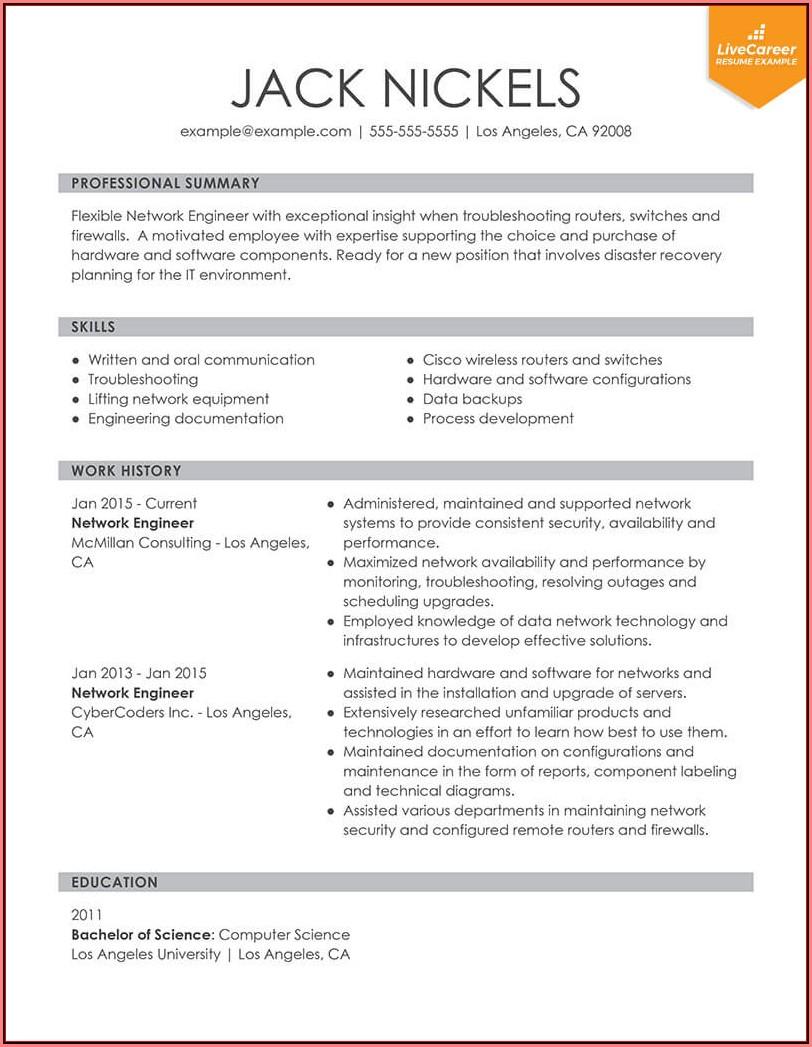 Free Functional Resume Format