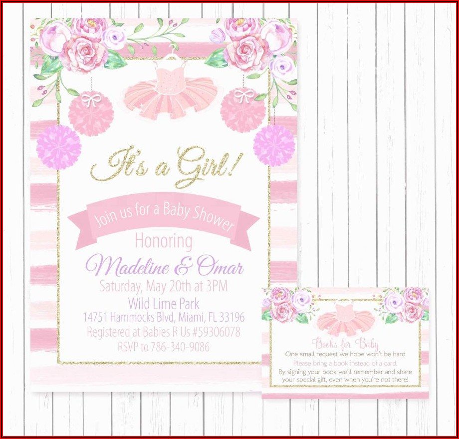 Free Girl Baby Shower Invitation Templates For Word