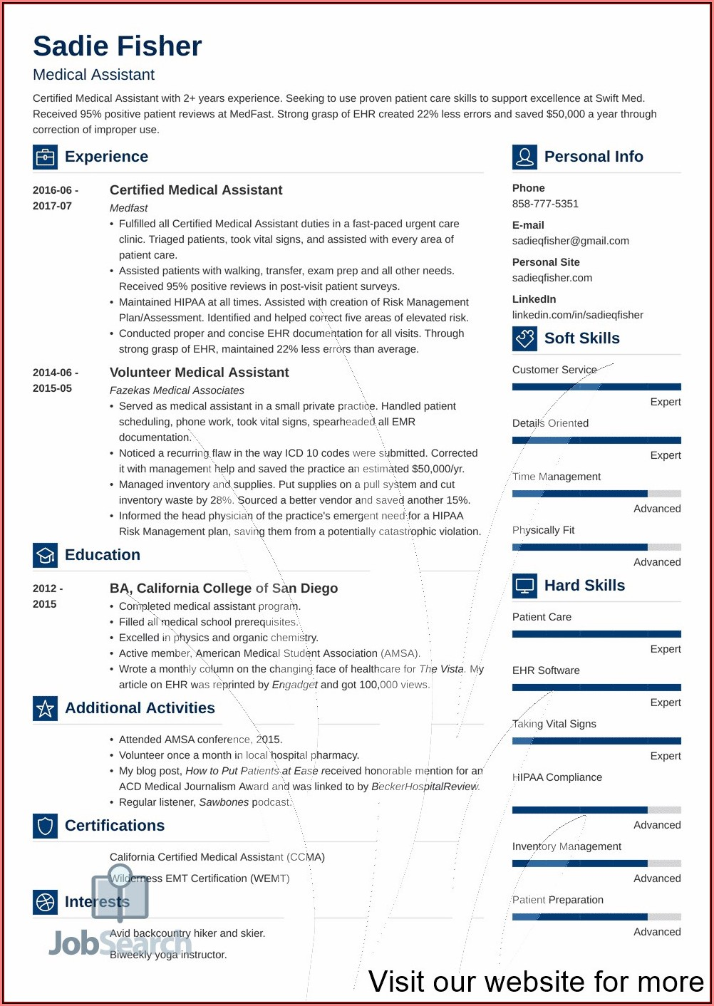 Free Healthcare Resume Templates