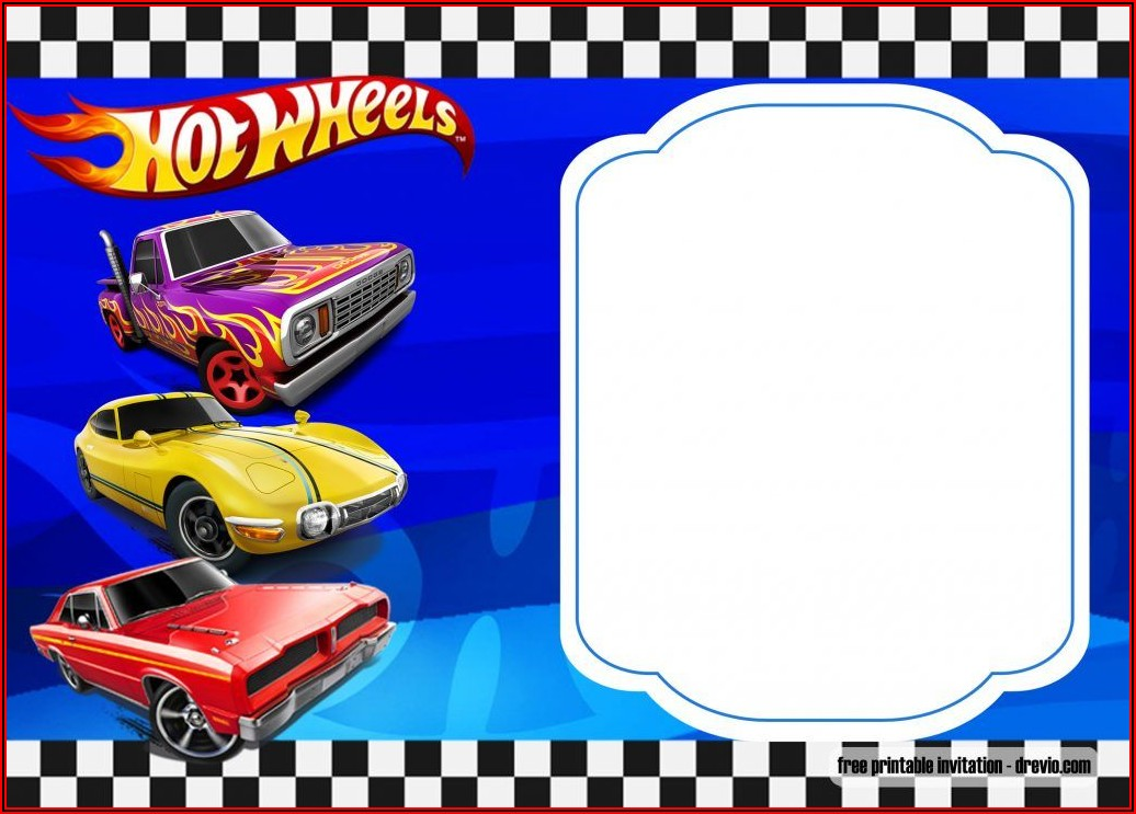 Free Hot Wheels Birthday Invitation Templates